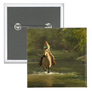 Horseback rider 17 2 inch square button