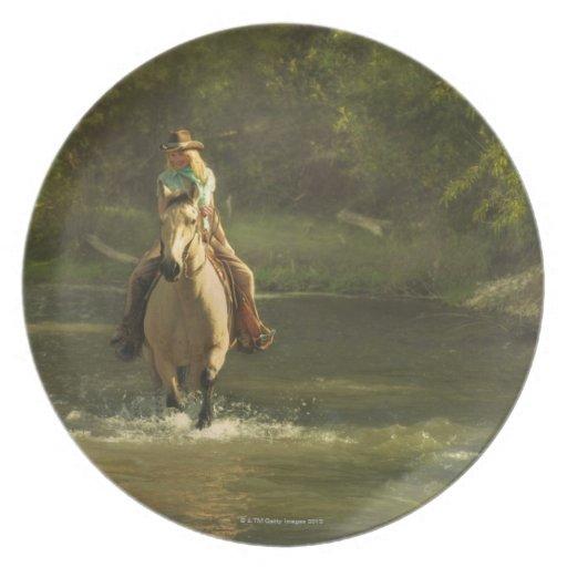 Horseback rider 17 melamine plate