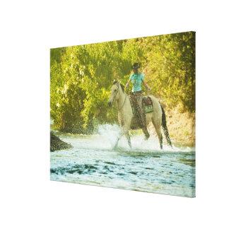 Horseback rider 18 canvas print