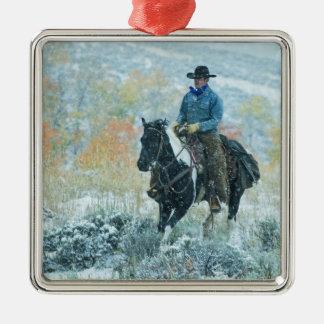 Horseback rider 19 metal ornament