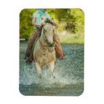 Horseback rider 21 rectangular photo magnet