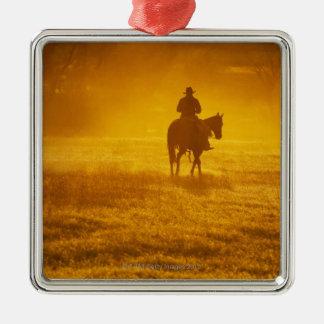 Horseback rider 24 metal ornament