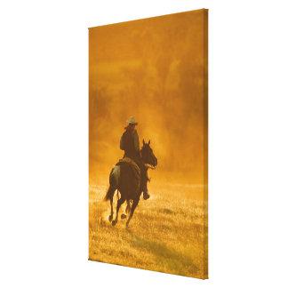 Horseback rider 3 canvas print