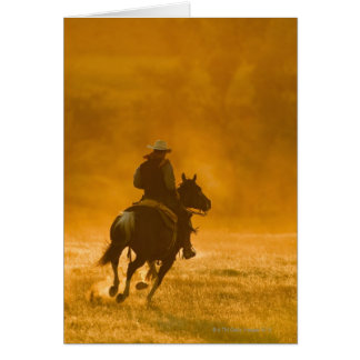 Horseback rider 3 card