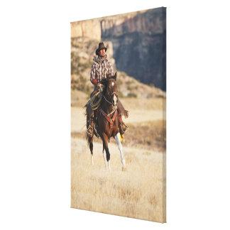 Horseback rider 7 canvas print