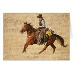 Horseback rider 8 greeting card
