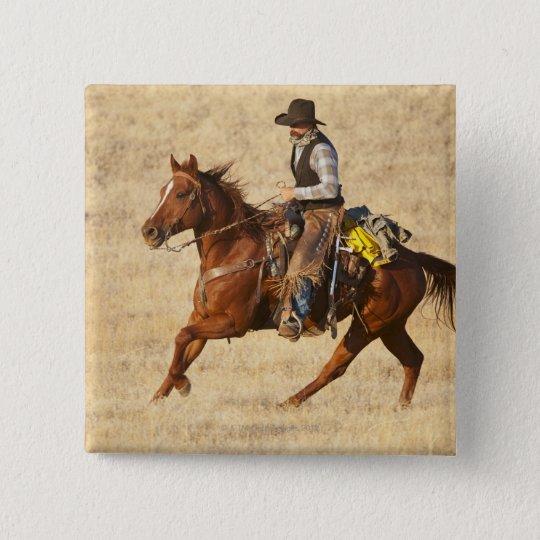 Horseback rider 8 pinback button