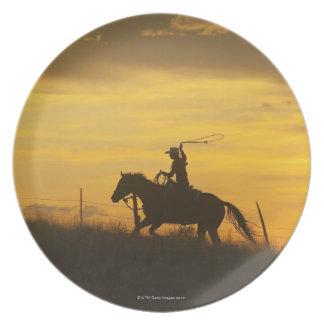 Horseback rider 9 plates