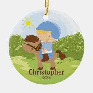 Horseback Rider Boy Christmas Ornament
