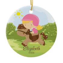 Horseback Rider Girl Christmas Ornament