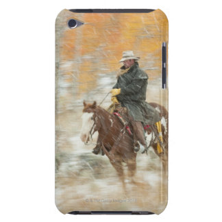 Horseback rider in rain iPod touch cover