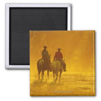 Horseback riders 10 2 inch square magnet