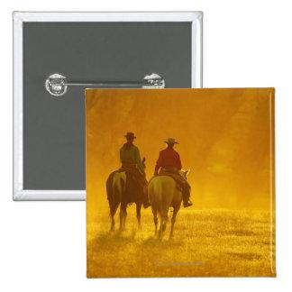 Horseback riders 10 2 inch square button