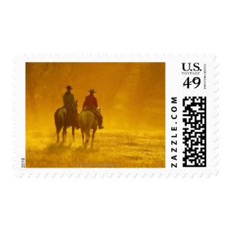 Horseback riders 10 postage stamp