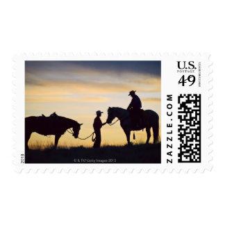 Horseback riders 11 postage stamp