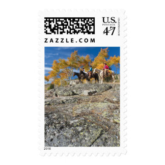 Horseback riders 12 stamp