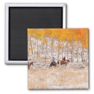 Horseback riders 2 2 inch square magnet