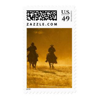 Horseback riders 3 stamps