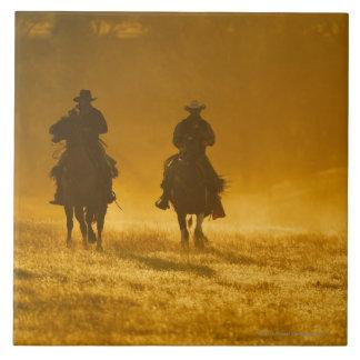 Horseback riders 3 ceramic tile