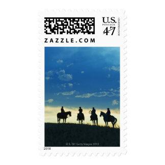 Horseback riders 6 postage stamp