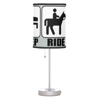 Horseback Rider's Eat Sleep Ride Decorative Lamp