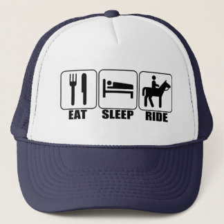Horseback Rider's Funny Eat Sleep Ride a Horse Hat
