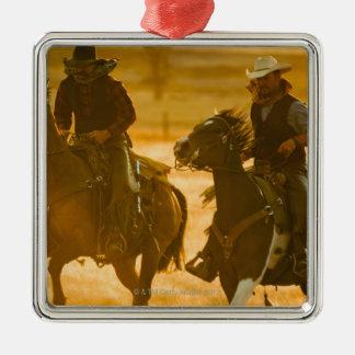 Horseback riders metal ornament
