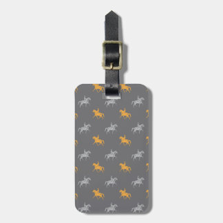 horseback riders patterns tag for luggage