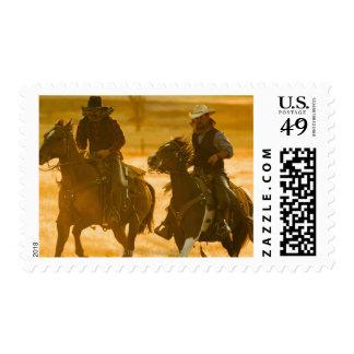Horseback riders postage stamp