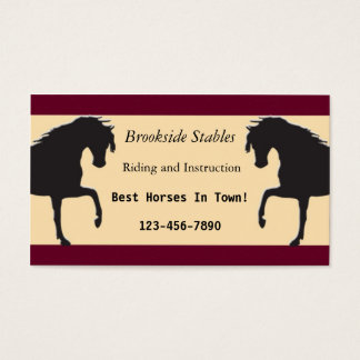 Riding lessons business cards templates zazzle horseback riding business card yadclub Choice Image