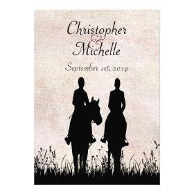 Horseback Riding Couple Wedding Invitation