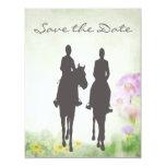 Horseback Riding Couple Wedding Save the Date Personalized Invite
