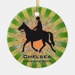 Horseback Riding Equestrian Ornament