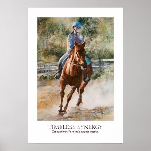 Horseback Riding Equestrian Teamwork Synergy Print