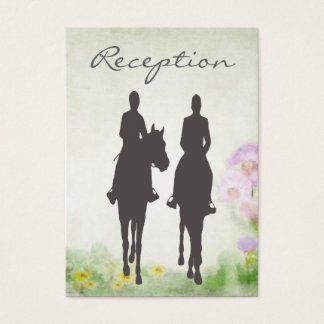 Horseback Riding Equestrian Wedding Reception Card