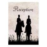 Horseback Riding Equestrian Wedding Reception Card Business Card Templates
