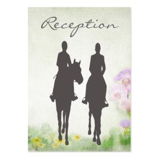 Horseback Riding Equestrian Wedding Reception Card Large Business Card