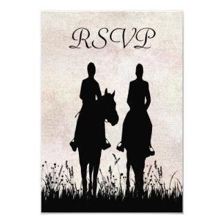 Horseback Riding Equestrian Wedding RSVP Card
