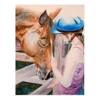 HorseBack Riding Girl & Horse Animal Lover Cards