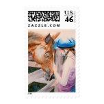 HorseBack Riding Girl & Horse Animal Lover Stamps