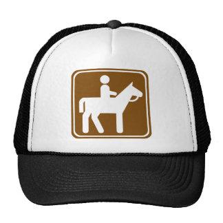 Horseback Riding Highway Sign Trucker Hat