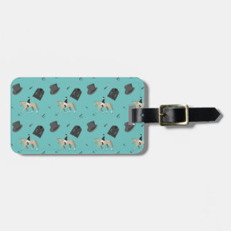Horseback riding in a modern style bag tag