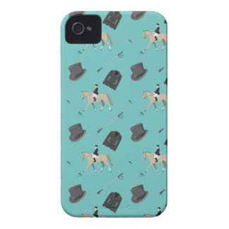 Horseback riding in a modern style iPhone 4 case
