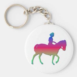 Horseback riding keychain