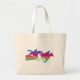 Horseback riding large tote bag