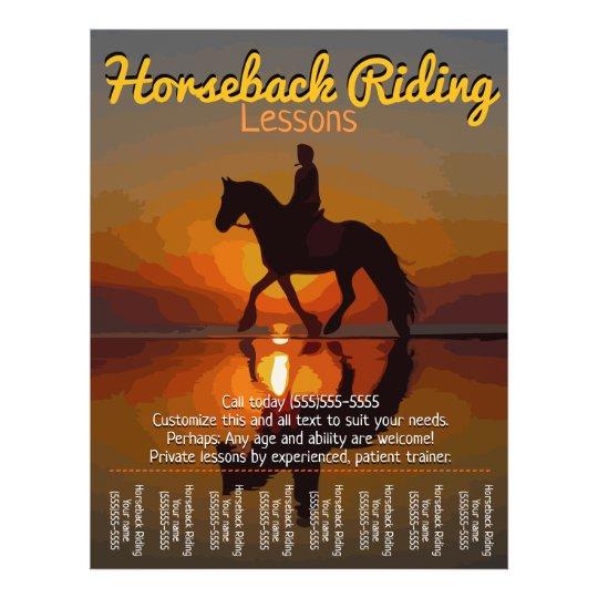 horseback riding lessons horse boarding trails flyer. Black Bedroom Furniture Sets. Home Design Ideas