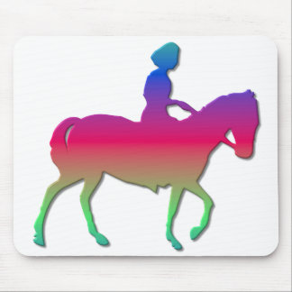 Horseback riding mouse pad