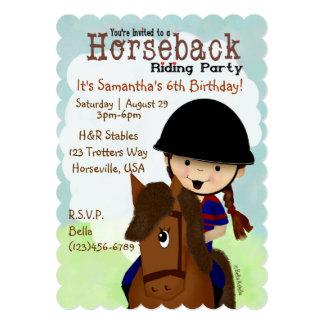 Horseback Riding Party Custom Invitations