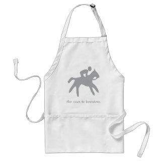 Horseback riding......the cure to boredom adult apron