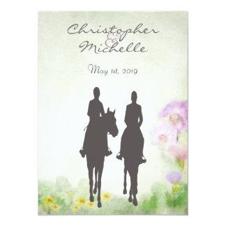 Horseback Riding Wedding Invite, Reception & RSVP Card